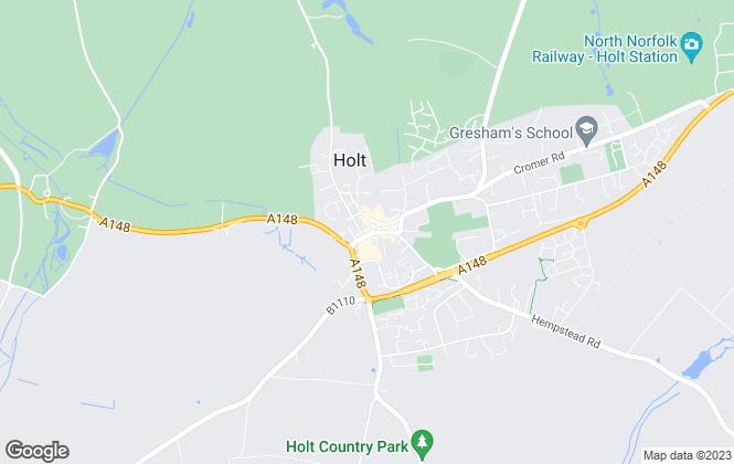 Map for Big Skies Estates Limited, Holt