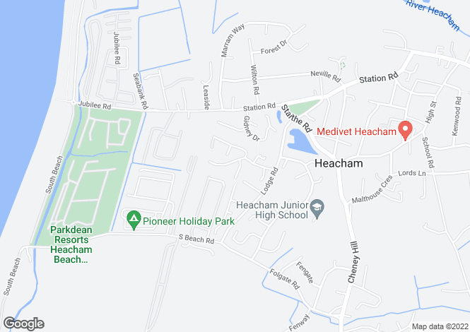 Map for Gymkhana Way, Heacham, KING'S LYNN