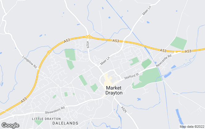 Map for Barbers, Market Drayton