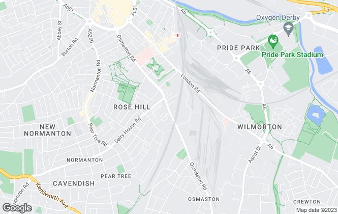 Map for Platinum Estates, Derby