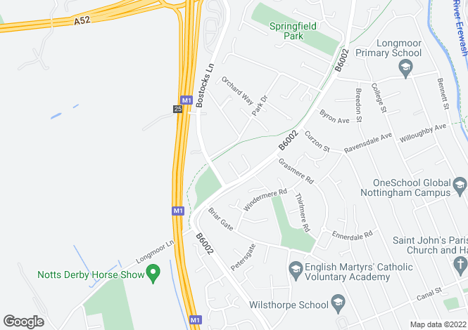 Map for Longmoor Road,