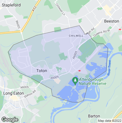 Map of property in Toton