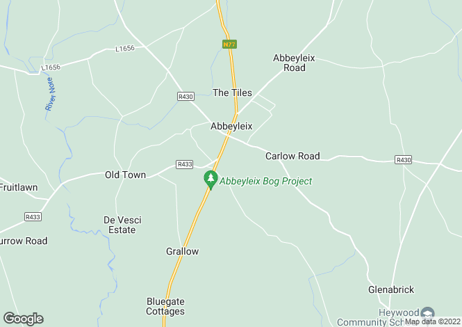 Map for The View, Upper Boley Road, Shanahoe, Abbeyleix, Laois