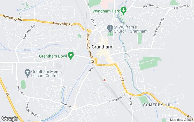 Map for Pigott & Hall, Grantham
