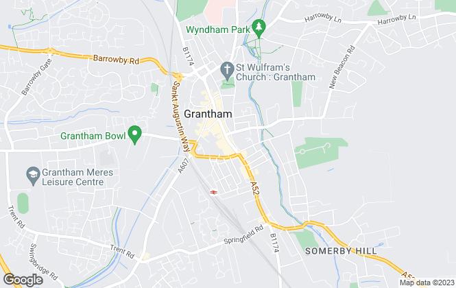 Map for Escritt Barrell Golding, Grantham