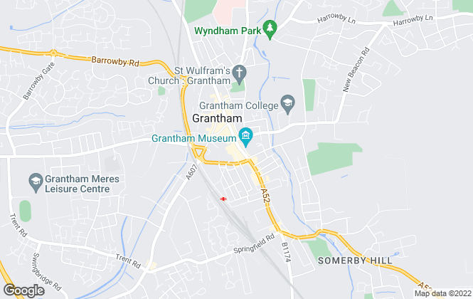 Map for Escritt Barrell Golding, Grantham