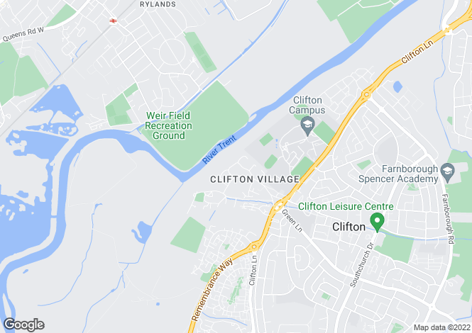 Map for Groveside Crescent, Clifton Village, Nottingham, NG11 8NT