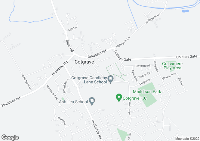 Map for Valeview, Candleby Lane, Cotgrave