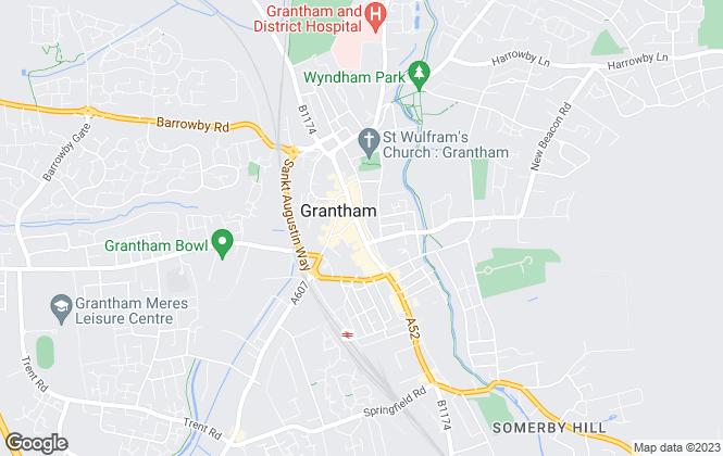 Map for Nottingham Property Services, Grantham