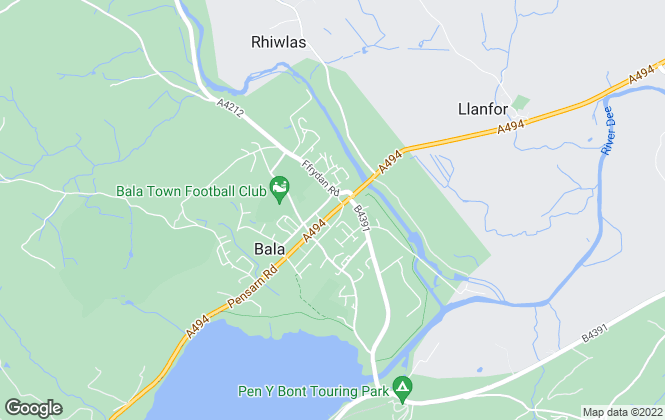 Map for RG Jones, Bala