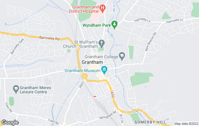 Map for Charles Dyson Estate Agents, Grantham