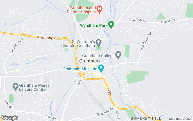 Map for Chesterton Humberts Commercial, Grantham
