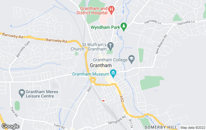 Map for William H. Brown, Grantham