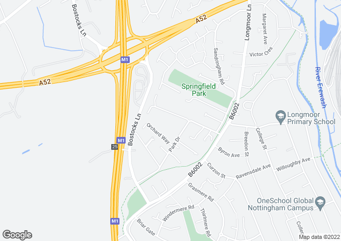 Map for Springfield Avenue,