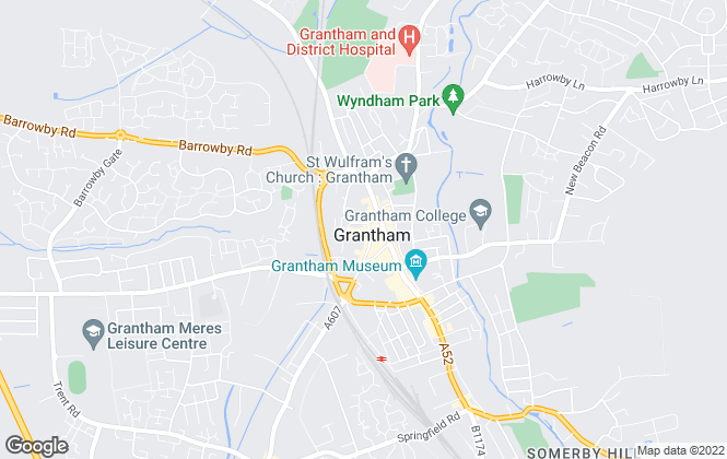 Map for Martin & Co, Grantham