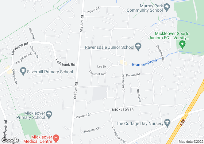 Map for CHESTNUT AVENUE, MICKLEOVER