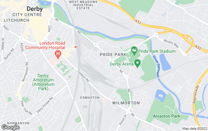 Map for Raeburn Consulting, Derby