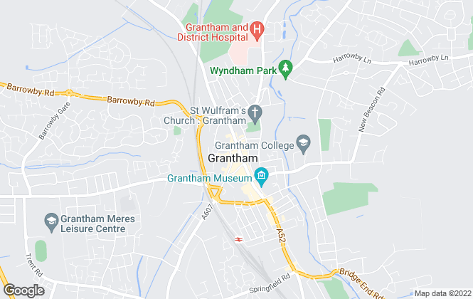 Map for Newton Fallowell, Grantham, Sales