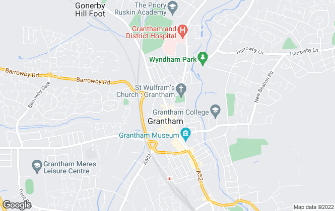 Map for Connells, Grantham