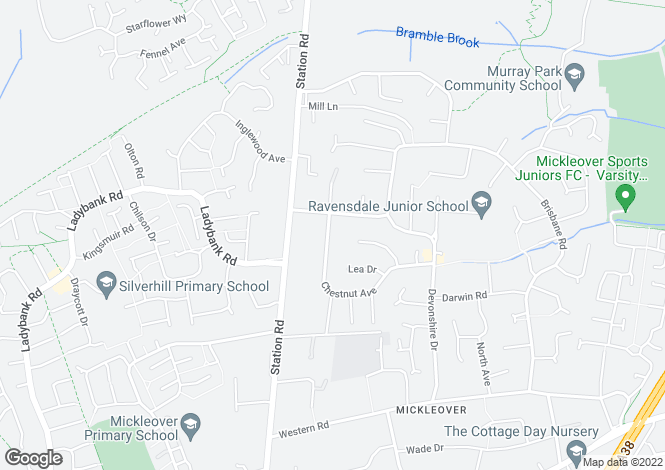 Map for Mickleover