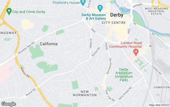 Map for Remarkable Lettings, Derby