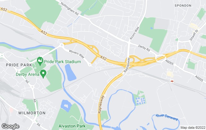 Map for Raybould & Sons Chartered Surveyors, Derby