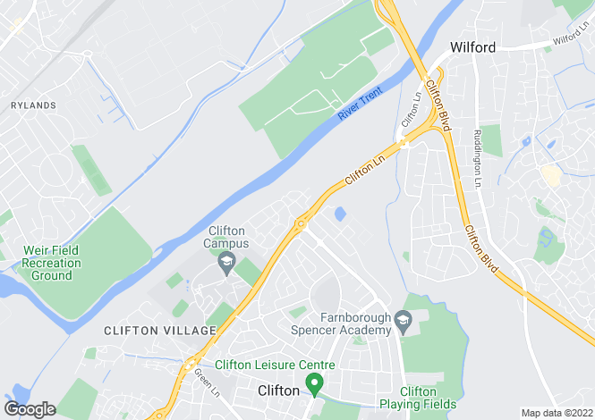 Map for Twyford Gardens, Clifton Grove
