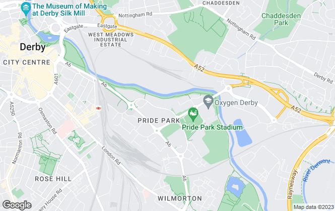 Map for Innes England Ltd, Derby