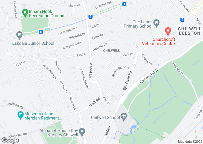 Map for High Road, Chilwell