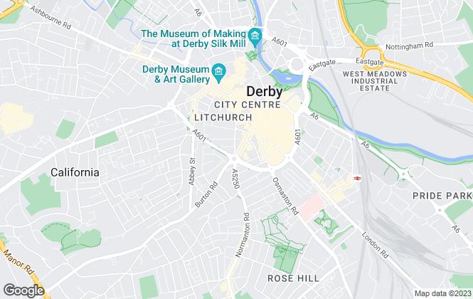 Map for Steadwall Properties LTD, Derby