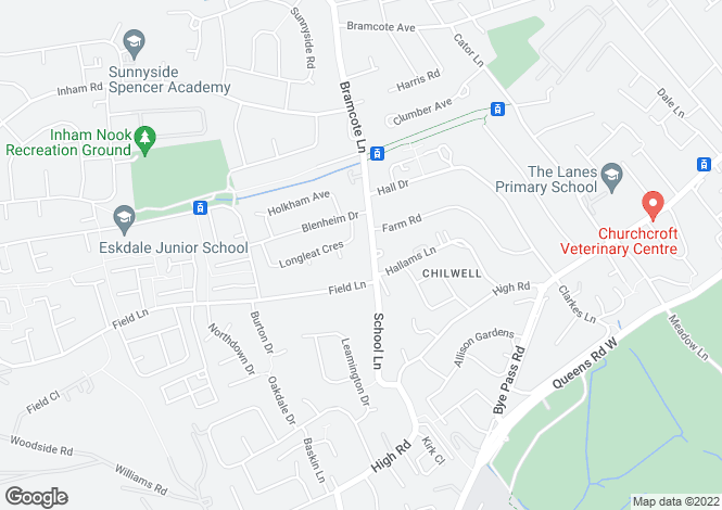 Map for Brook Chase Mews, Bramcote Lane, Chilwell, Nottingham, NG9