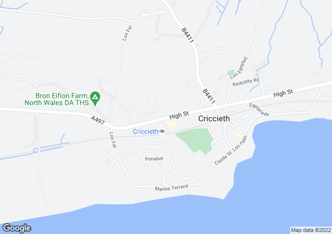 Map for Station Bakery, High Street, Criccieth