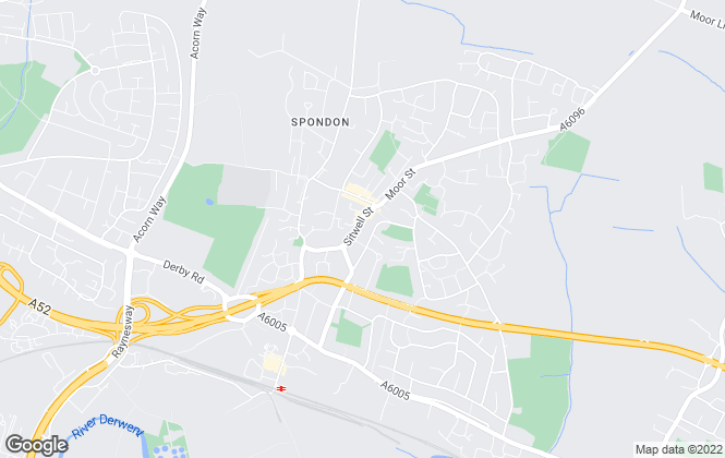 Map for Hall and Benson , Spondon