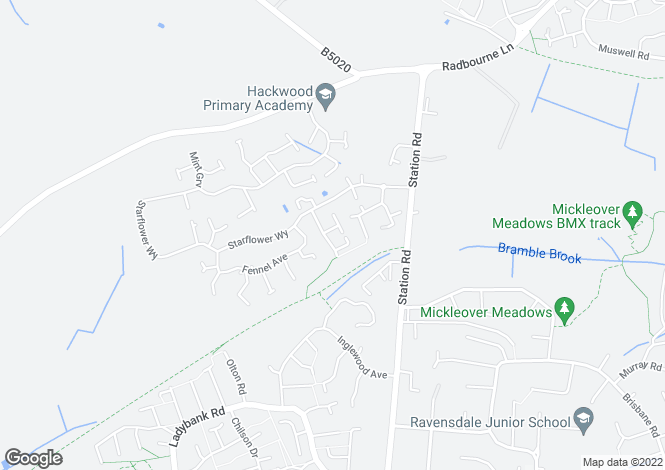 Map for Crystal Close, Mickleover, Derby