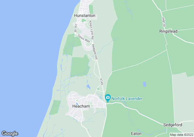 Map for Heacham