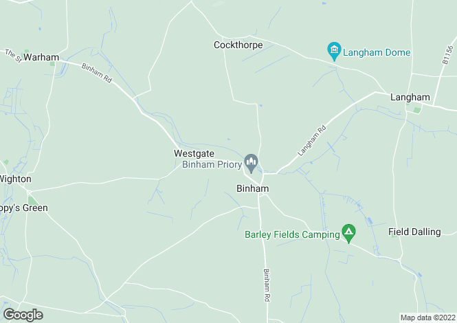 Map for Warham Road, Binham, Fakenham