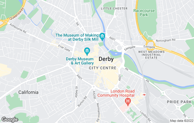 Map for Leaders Sales & Lettings, Derby