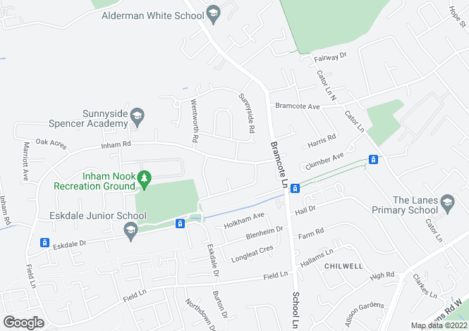 Map for Inham Road, Chilwell