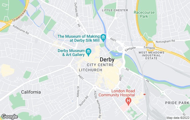Map for Hall and Benson , Derby
