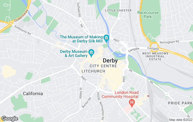 Map for Phoenix Lettings, Derby