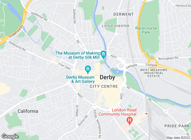 Map for Ashley Adams, Derby