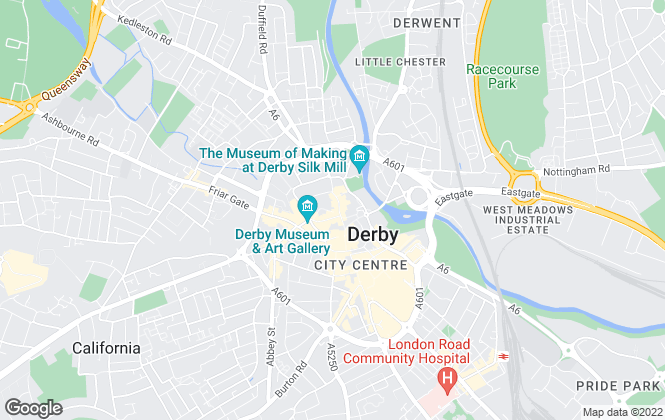 Map for BB&J The Lettings People, Derby