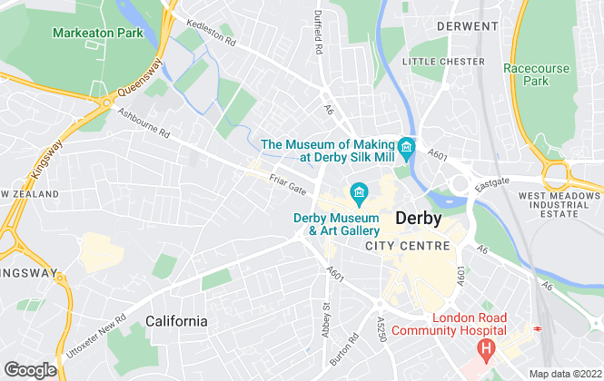 Map for MBM Property, Derby