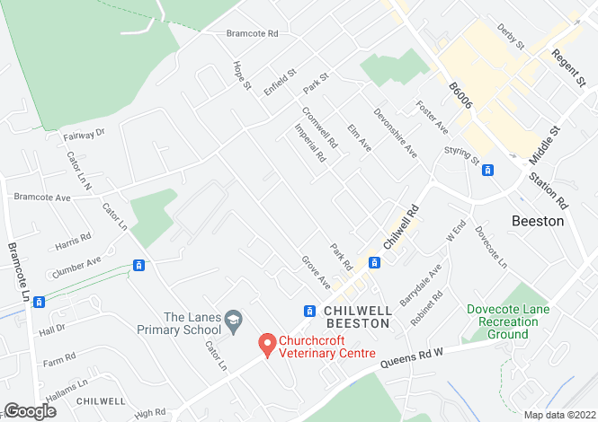 Map for Park Road, Chilwell