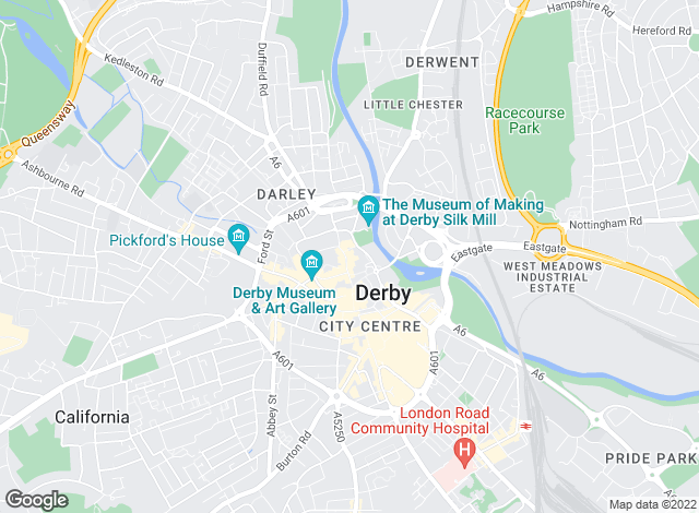 Map for Reeds Rains Lettings, Derby
