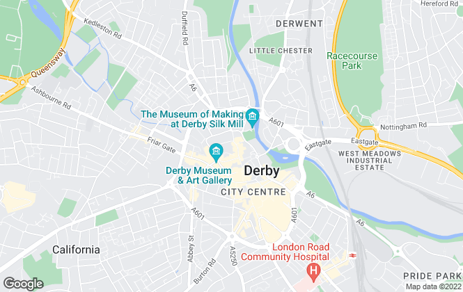 Map for Gadsby Nichols, Derby