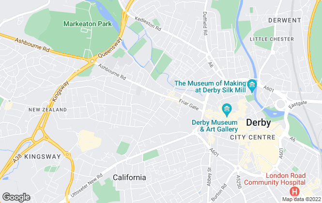 Map for Key Properties, Derby