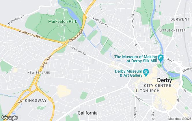 Map for AKS Residential, Derby