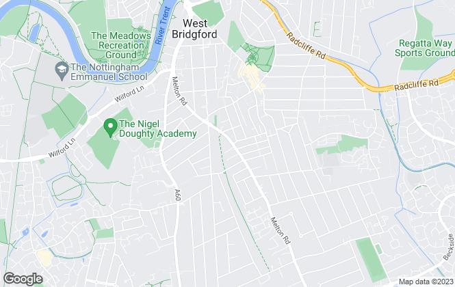Map for Belvoir Sales, West Bridgford