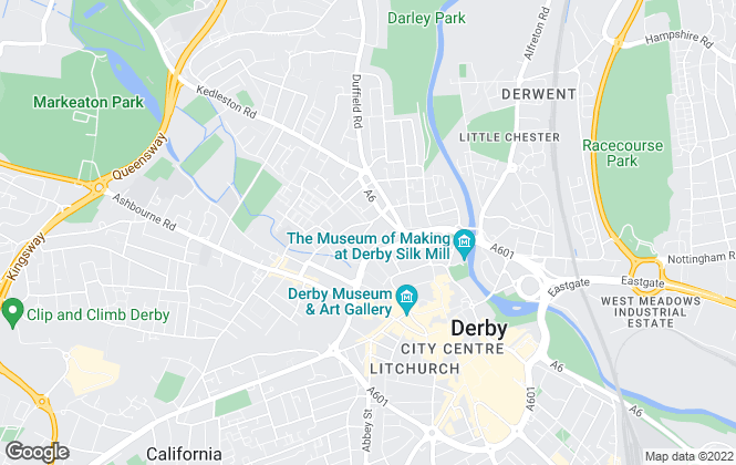 Map for John German, Derby